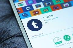 Tumblr mobiele app Royalty-vrije Stock Foto's