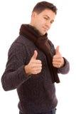 Tumbs ocasionais novos dos homens acima Imagens de Stock