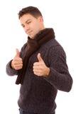Tumbs ocasionais novos dos homens acima Fotos de Stock Royalty Free