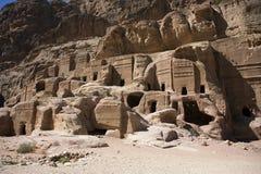 The tumbs in Petra. Jordan. Nabatean Tumbs in Petra, Jordan Stock Images