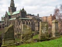 Tumbstones przy Necropolis, Glasgow Zdjęcia Royalty Free
