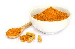 Tumeric capsule. Stock Images