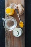 Tumeric i imbiru herbata Zdjęcie Royalty Free