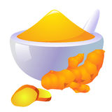 Tumeric Icon Royalty Free Stock Photo