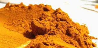Tumeric powder extended royalty free stock image