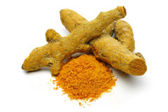 Tumeric Powder Heap Stock Photos