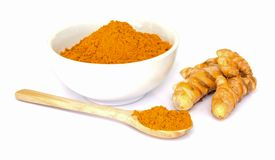 Tumeric   powder. Royalty Free Stock Photos