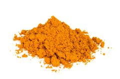 Tumeric   powder. Royalty Free Stock Photo