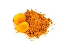 Tumeric   powder. Royalty Free Stock Image