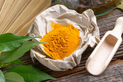 Tumeric powder stock photos