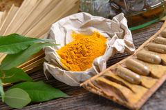 Tumeric powder Stock Image