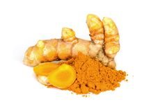 Tumeric and tumeric  powder. Stock Photography