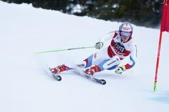 TUMLER Thomas in Audi Fis Alpine Skiing World-Kop Stock Foto