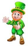 Tummar Up teckenet för dagen för trollSt Patricks Arkivfoto