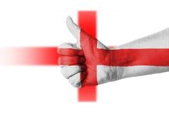 Tumme upp för England Arkivbild