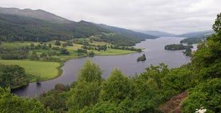 Tummel della Scozia, lago, il punto di vista della regina Fotografia Stock Libera da Diritti