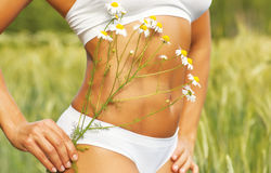 Tummy женщины Стоковое Фото