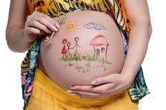 Tummy med teckningen royaltyfri bild