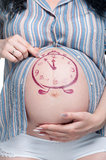 Tummy med teckningen royaltyfri fotografi