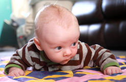 Tummy Time Royalty Free Stock Photography