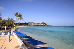 Tumon海滩在关岛 免版税库存照片