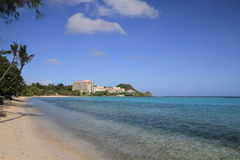 Tumon beach in Guam Royalty Free Stock Photo