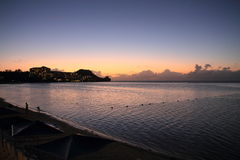 Tumon beach at the sunset in Guam Royalty Free Stock Photography