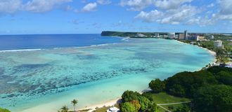 Tumon fjärd, Guam arkivfoton