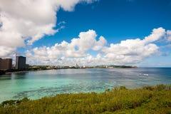 Tumon fjärd i Guam Fotografering för Bildbyråer