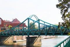 Tumski-Brücke in Breslau, Polen Stockbilder