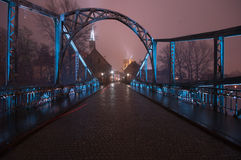 The Tumski bridge ,Wroclaw Royalty Free Stock Photo