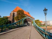 Tumski bridge in Wroclaw Royalty Free Stock Photography