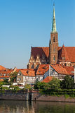 Tumski island in Wroclaw, Poland, Eastern Europe Stock Images