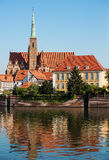 Tumski island in Wroclaw, Poland, Eastern Europe Royalty Free Stock Photos