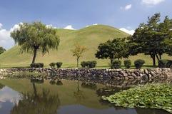 tumuli парка Кореи gyeongju южные стоковое изображение