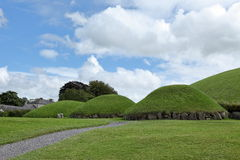Tumuli of Newgrange in Northern Ireland Royalty Free Stock Photography