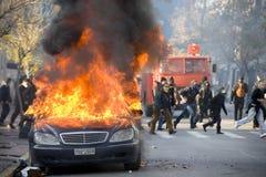 Tumulti a Atene 18_12_08 Fotografie Stock Libere da Diritti