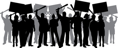 Tumulto illustrazione vettoriale