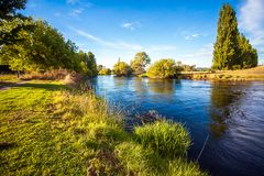 On the Tumut River Australia. New South Wales Royalty Free Stock Image