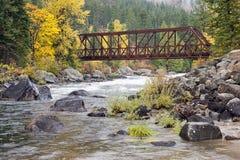 Tumwater-Schlucht-Brücke Stockfotografie
