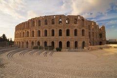 Tunísia - Mahdia - EL Djem - anfiteatro romano antigo de Thysd Imagens de Stock Royalty Free