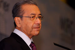 Tun Dr. Mahathir bin Mohamad. The fourth Prime Minister of Malaysia and held the post for 22 years from 1981 to 2003, the longest-serving Malaysia's Prime Royalty Free Stock Photography