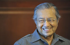 Tun Dr Mahathir Mohamad Fotos de Stock Royalty Free