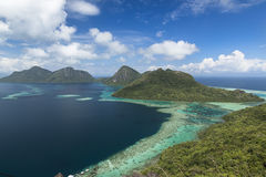 Tun Sakaran marine park. Bohey Dulang. Stock Photos