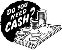 Tun Sie benötigen Bargeld? vektor abbildung