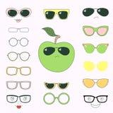Tun Sie es sich Apfel in den Gläsern lizenzfreie abbildung