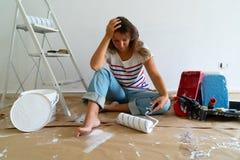 Tun Sie es sich Hauserneuerungen lizenzfreies stockbild