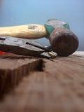 Tun Sie es sich Werkzeuge für Erneuerung und Zimmerei Lizenzfreie Stockfotos