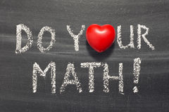 Tun Sie Ihr Mathe Stockbild