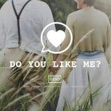 Tun Sie Sie mögen mich Valentine Romance Love Toast Dating-Konzept lizenzfreie stockfotografie